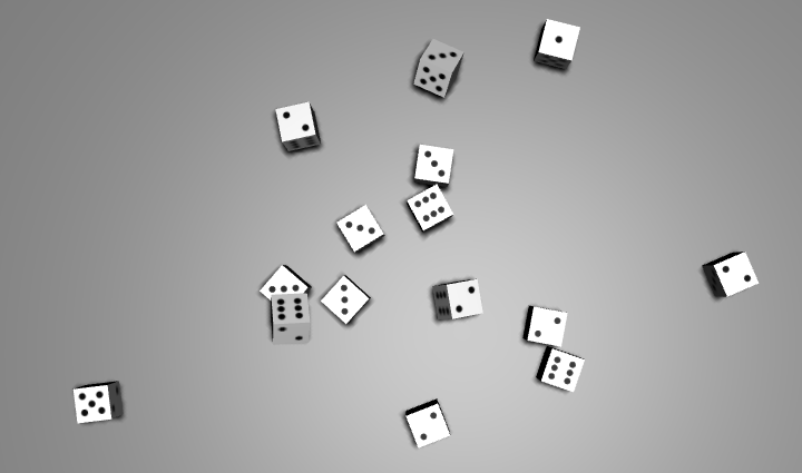An image of dice being rolled
