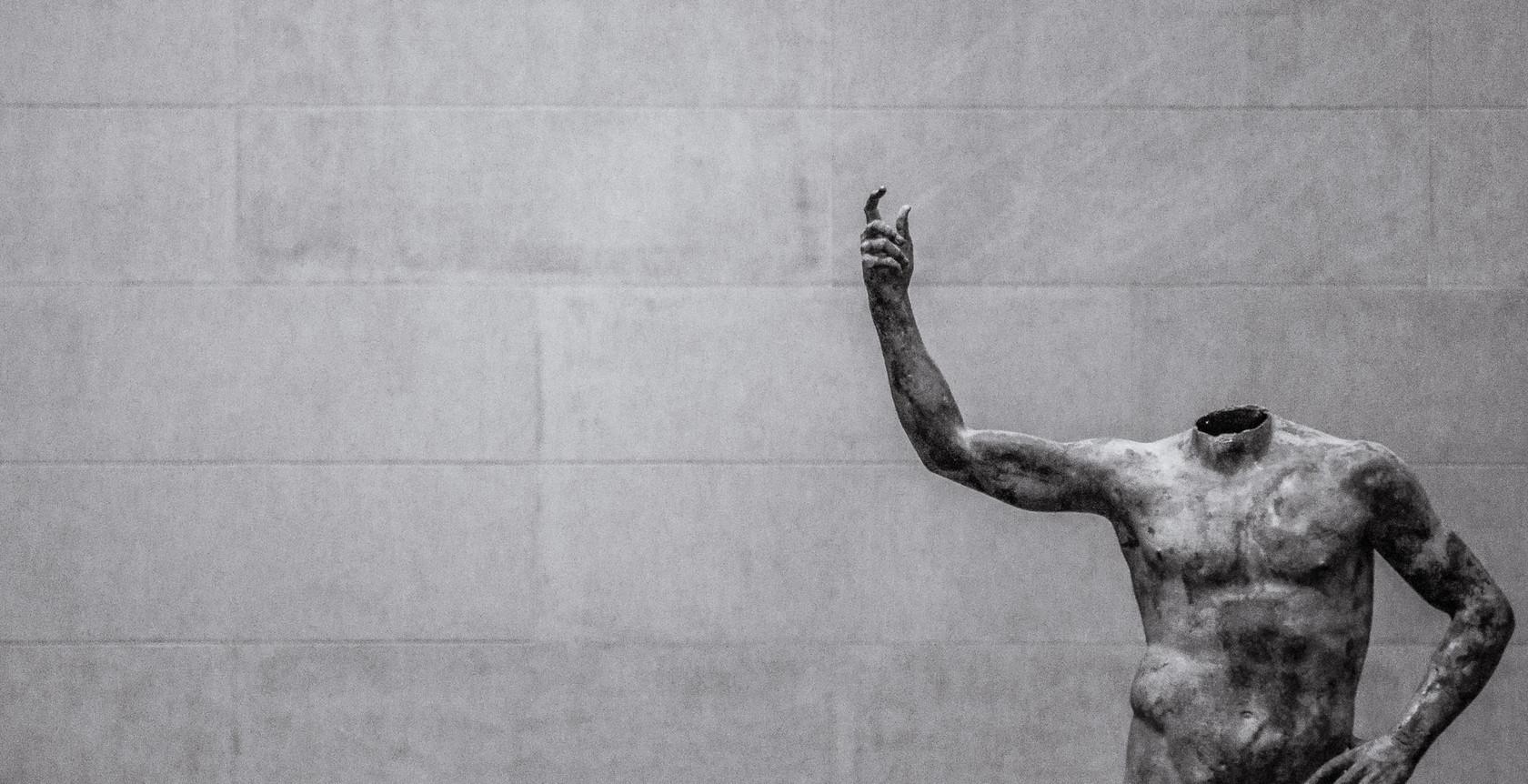 A headless statue